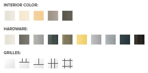 contemporary sliding door color options